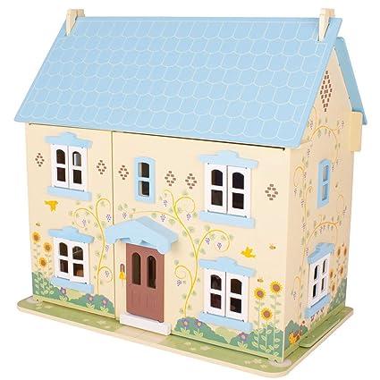 Bigjigs Toys Boîte de jeu patrimoine maison de poupée tournesol