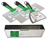 USG Sheetrock Matrix Stainless Steel Drywall Taping Knife Set 6