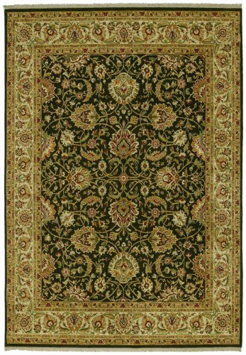 Shaw Living Kathy Ireland Home First Lady 1-Foot 10-Inch by 3-Foot Rug in Empress Garden Pattern, Old Republic Black