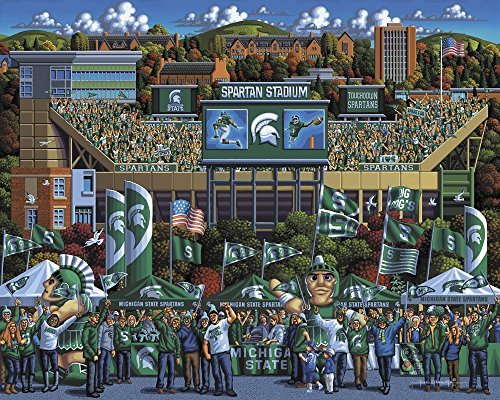 Michigan-State-Spartans-500pc-Jigsaw-Puzzle-By-Dowdle-Folk-Art