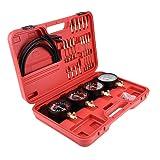 Zerone 4pcs Vacuum Gauge Set, Motorcycle Carburetor Synchronizer and Adjustment Tool Fuel Vacuum Garb Sync Tuner Tool