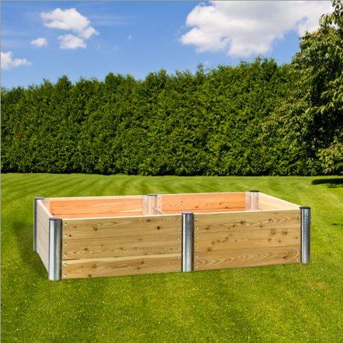 dema hochbeet premium duo rechteckig 210x109x45 cm. Black Bedroom Furniture Sets. Home Design Ideas