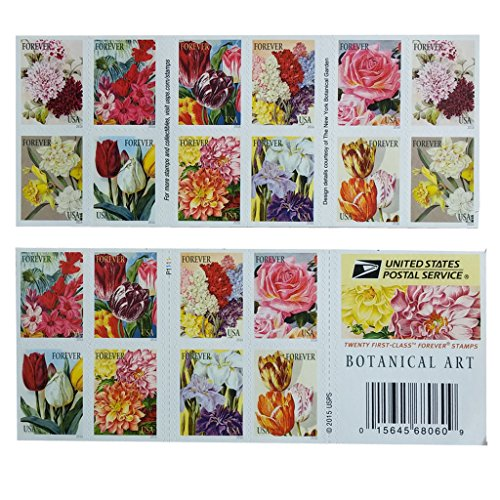 20-botanical-art-usps-forever-first-class-postage-stamps-beautiful-flower-bloom