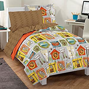 Dream Factory Casual Campout Comforter Set, Twin, Multicolor