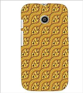 PrintDhaba Pattern D-5137 Back Case Cover for MOTOROLA MOTO E (Multi-Coloured)