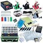 Complete Tattoo Kit 4 Machine Guns Set Equipment Power Supply 40 Color Inks D139