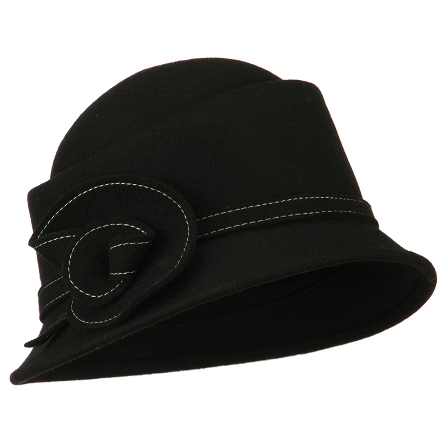 Women's Wool Felt Cloche - Black