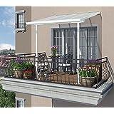 Hochwertige Aluminium Terrassenüberdachung, Balkondach, Terrassendach Sierra 230x230 cm (TxB)