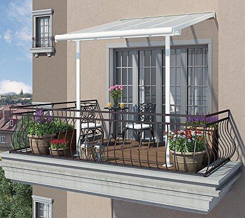 hochwertige aluminium terrassen berdachung balkondach terrassendach sierra 230x230 cm txb. Black Bedroom Furniture Sets. Home Design Ideas