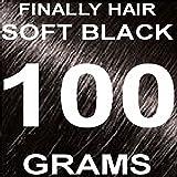 Finally Hair Hair Fiber Refill 100 Grams For Hair Loss Concealing by Finally Hair (Soft Black)