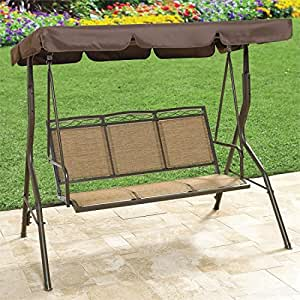 Brylanehome extra wide textured vinyl 3 seat for Extra wide swing seat