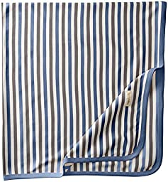 L\'ovedbaby Unisex-Baby Newborn Organic Swaddling Blanket, Slate Stripe, One Size
