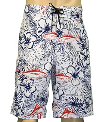 Columbia Men's Angler Champion Board Shorts-White-44