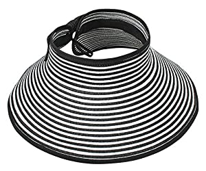 Simplicity Straw hat w/ Wide Brim Roll-up Sun Visor (Womens, Travel)