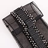 Neotrims Black Bugle Bead Hand Embroidery Beaded Trimming Ribbon on Net. Small Silver bead Highlights. Beautiful And Luxurious Look for Cocktail Wear Apparel and Home Décor, on a Net Fabric base. Stunning.