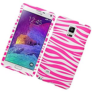 Eagle Cell Rubber Cover for SAMSUNG Galaxy Note 4 - Retail Packaging - Pink Zebra