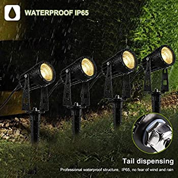 4Packs Outdoor LED Landscape Lights, ProGreen 12V 1080lumen Waterproof Garden Path Lights, 3000k Warm White Decorative Lamp Wall Light w/ Spiked Stand for Lawn, Garden, Along Driveway or Pathways