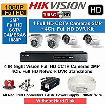 Hikvision-DS-7204HQHI-F1-4CH-Dvr,-2(DS-2CE16DOT-IRP)-Bullet,-2(DS-2CE56DOT-IRP)-Dome-Cameras-(With-Accessories)