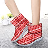 FOR-U-DESIGNS-Fashion-Christmas-Theme-Womens-Shoes-Winter-Warm-Short-Boots-Footwear