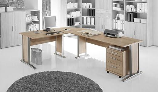 """TICAA Buro- und Arbeitszimmer """"Office Line"""" Sonoma-Weiß"""