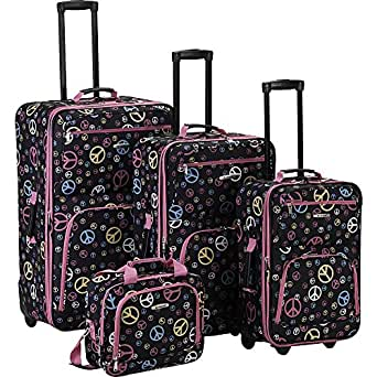 Rockland Luggage Peace 4 Piece Expandable Rolling Luggage Set