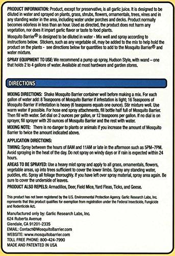 Mosquito Barrier 2001 Liquid Spray Repellent, 1-Quart