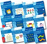 Harper Collins Collins Easy Learning Age 5-7 Maths Collection - 12 Books RRP £47.88 (Counting Practice Age 5-7; Telling Time Age 5-7; Mental Maths Practice Age 5-7; Times Tables Practice Age 5-7; Times Tables Age 5-7 Workbook 1; Times Tables Age 5-7 Wor