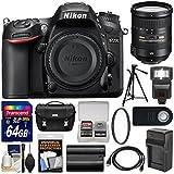 Nikon D7200 Wi-Fi Digital SLR Camera Body with 18-200mm VR II Lens + 64GB Card + Case + Flash + Battery/Charger + Tripod + Kit