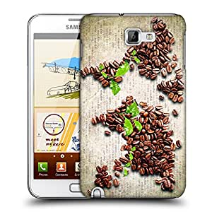 Snoogg Coffee Beans Designer Protective Back Case Cover For Samsung Galaxy Note 1