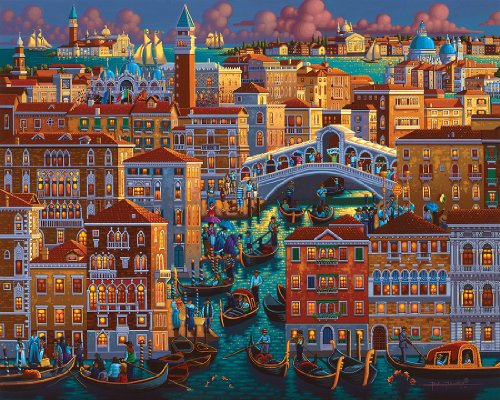 Venice-1000pc-Jigsaw-Puzzle-By-Dowdle-Folk-Art