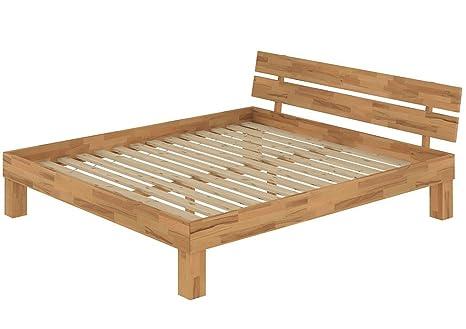 60.86-18 Bett 180x200 cm, Buche massiv mit Rollroste, Futonbett