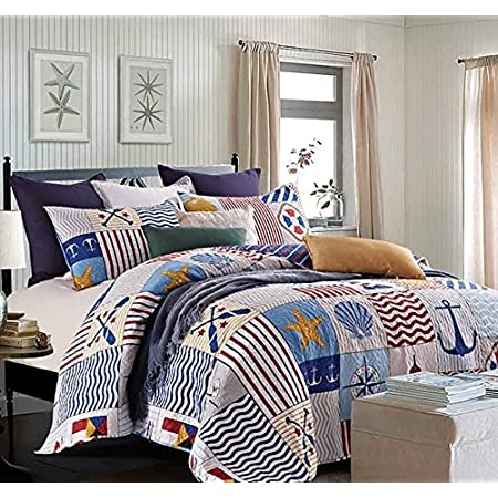 610za%2BhVJaL._SS450_ The Best Nautical Quilts and Nautical Bedding Sets
