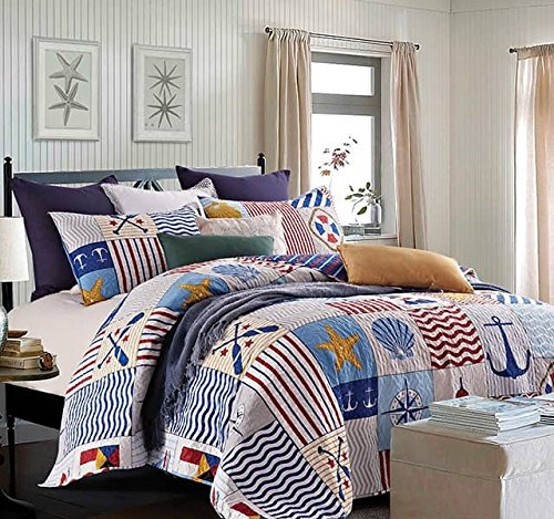U201cAnchors Awayu201d Quilt U0026 Sham Set + Matching Quilt Throw
