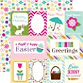 Echo Park Mini Theme Hippity Hoppity Hoppity Journaling 12x12 Easter Scrapbook Paper