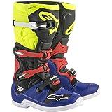 Alpinestars Tech 5 Motocross Off-Road Motorcycle Boots, Blue/Black/Yellow, Men's Size 14 (Color: Blue/Black/Yellow, Tamaño: 14)