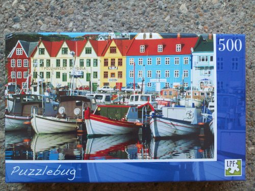 Puzzlebug 500 Piece Puzzle - Waterfront Colors, Faroe Islands