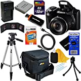 Canon PowerShot SX510 HS 12.1 MP CMOS Digital Camera with 30x Optical Zoom and Full-HD Video + NB-6L Battery & AC/DC Battery Charger + 10pc Bundle 32GB Deluxe Accessory Kit w/ HeroFiber® Ultra Gentle Cleaning Cloth