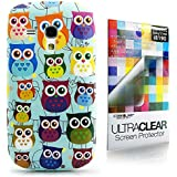 CaseiLike � Baby Blue, Muttersprachen Owl Grafik, Snap-on wieder Geh�use f�r Samsung Galaxy S3 Mini i8190 mit Displayschutzfolie 1pcs.