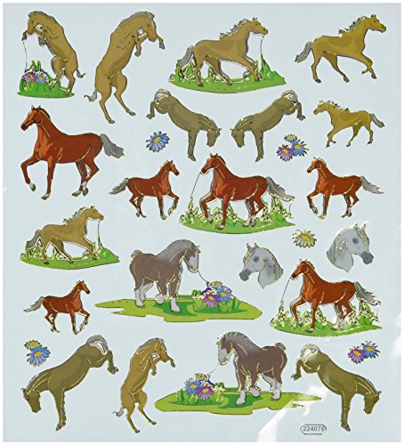 Multi-Colored Stickers-Horses In Motion