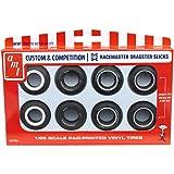 Custom Racemaster Dragster Slicks 1/25 8 Pack AMT