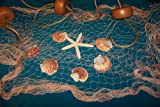 Fishing Net, 6 X 9 Ft Fish Net, Netting Shells, Starfish, Floats Decorative Nautical Decor Display