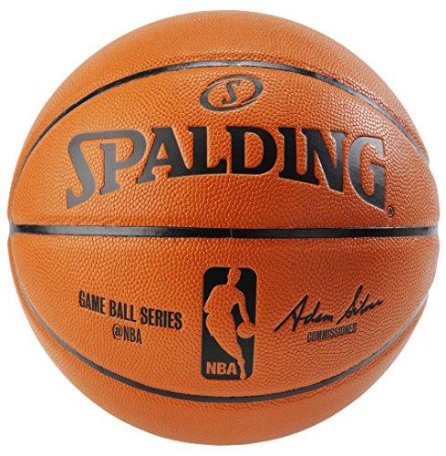 Spalding NBA Indoor/Outdoor Replica Game Ball spalding spalding 73 303 резиновый материал no 6 мяч женщина с мячом баскетбол