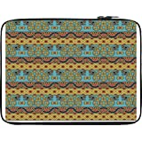 Snoogg Aztec Pattern Mustard 12 To 12.6 Inch Laptop Netbook Notebook Slipcase Sleeve