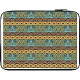 Snoogg Aztec Pattern Mustard 13 To 13.6 Inch Laptop Netbook Notebook Slipcase Sleeve