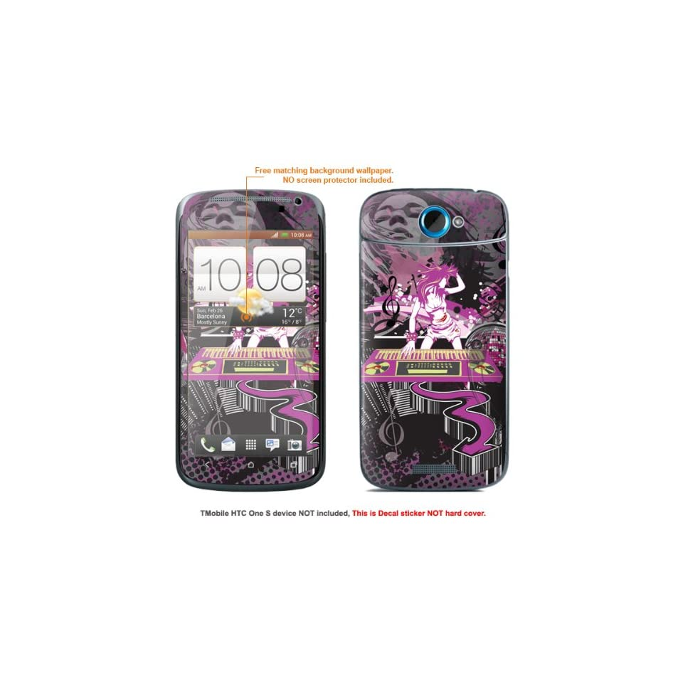 Protective Decal Skin Sticker for T Mobile HTC ONE S  T Mobile version case cover TM_OneS 272
