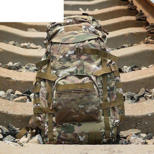 Grand sac / sac à bandoulière capacité camouflage / sac à dos tactique extérieur / sac d'alpinisme-4 60L