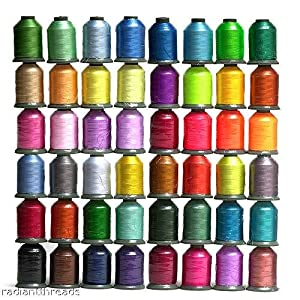 Amazon 48 Large Spools Embroidery Machine Thread