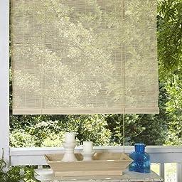 Premium Matchstick Natural Woven Wood Bamboo Woven Wood Bamboo Roll Up Window Blind, 8\' x 6\'