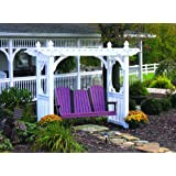 Outdoor Vinyl WHITE Classic Porch Swing Stand