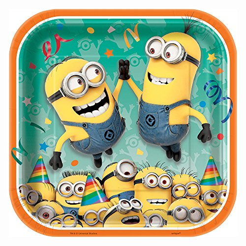 Best Price Unique Square Despicable Me Dinner Plates (8 Count)